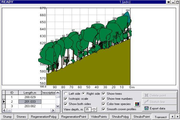 Interfaz software forestal Field-Map