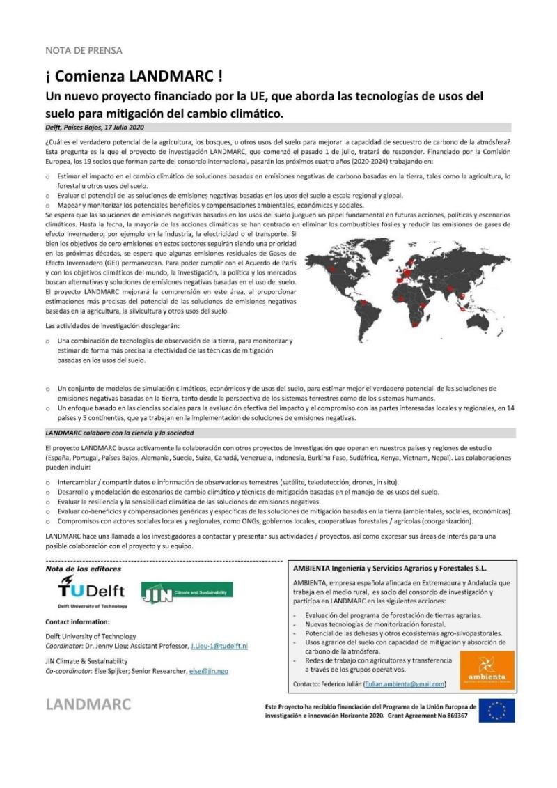 Descripción proyecto Landmarc